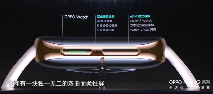 OPPO Watch搭载的双曲面柔性屏幕引人注目